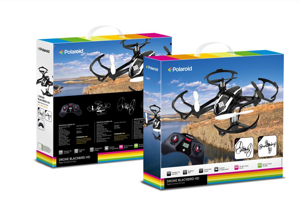 Polaroid Black Bird Drone radio commandé caméra HD