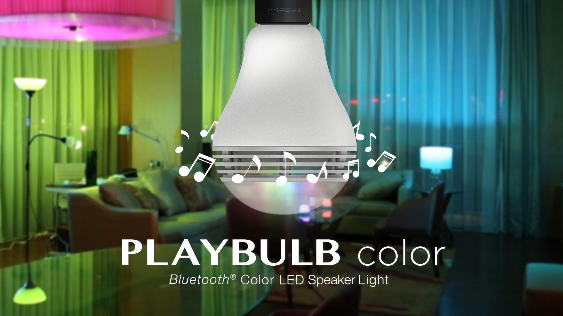 Mipow Playbulb color – Ampoule enceinte multicolore