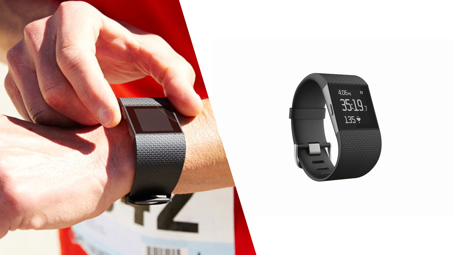 La smartwatch de sport Surge de Fitbit
