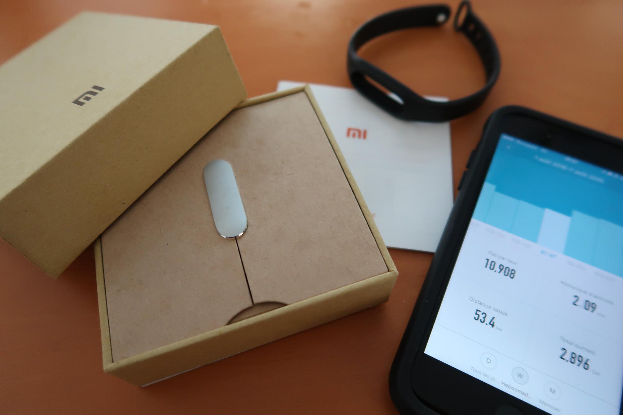J'ai testé pour vous : le bracelet connecté à moins de 20€ : Xiaomi Mi Band